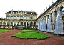 Часть дворца Zwinger в Дрездене стоковые фото