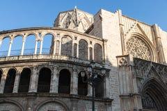 Часть собора Валенсия стоковая фотография