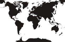 Черная предпосылка карт мира изолированная белая стоковое изображение rf