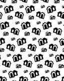 Чернота вектора картины дома Милая домашняя предпосылка квартиры иллюстрация вектора