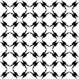 Черно-белая абстрактная предпосылка вектора и безшовная картина повторения конструируют иллюстрация штока