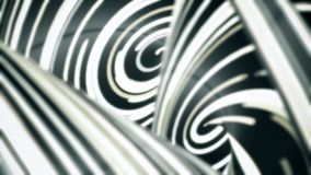 Черно-белые переплетенные линии пропуская быстрая, безшовная петля Абстрактная предпосылка движения с узкими линиями неонового св бесплатная иллюстрация