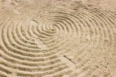 Чертеж песка красивая картина стоковая фотография