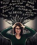 Чувство тревожности и депрессии стоковое изображение