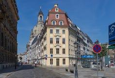 Чудесный городок Дрездена старый стоковые изображения