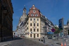 Чудесный городок Дрездена старый стоковые фотографии rf