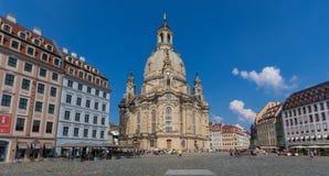 Чудесный городок Дрездена старый стоковые изображения rf