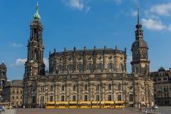 Чудесный городок Дрездена старый стоковые фото