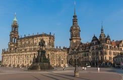 Чудесный городок Дрездена старый стоковое фото rf