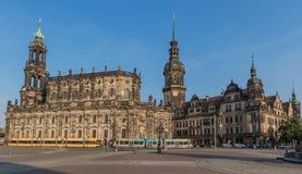 Чудесный городок Дрездена старый стоковое фото
