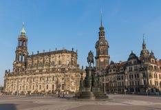 Чудесный городок Дрездена старый стоковое изображение rf