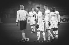 ХАРЬКОВ, УКРАИНА - 14-ое февраля 2019: Футболист Eintracht во время матча лиги Европы UEFA между Shakhtar Донецком против стоковое изображение