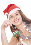 �-mas girl Stock Images