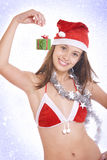 �-mas girl Royalty Free Stock Image