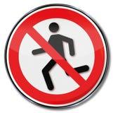 Ход знака запрета запрещен бесплатная иллюстрация
