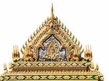 Щипец крыши в тайском стиле стоковое фото rf