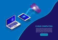 Равновеликие современные технология облака и концепция сети Дело технологии облака сети Сетевая память облака вычисляя бесплатная иллюстрация