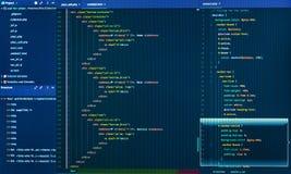Разделять HTML и кода css Разработка программного обеспечения закодируйте старую бумагу программируя некоторое Исходный код прогр стоковые изображения