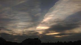 Разрисованное небо. Clouds have ornamented the sky stock photo
