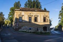 Разрушанный старый дом, Загреб, Хорватия стоковая фотография