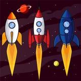 Ракета гонки в иллюстрации космоса иллюстрация штока