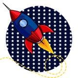 Ракета США идет разметить иллюстрацию иллюстрация штока