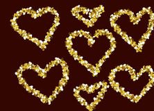Рамки любов золота стоковые фотографии rf