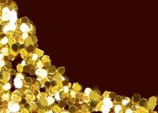 Рамки любов золота стоковая фотография