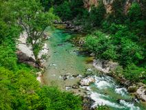 Река Ущелья du Verdon, Франция стоковое фото
