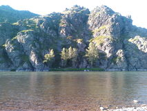 Река Чарыш. It is difficult to affordable clean mountain river in the Altai Territory Royalty Free Stock Photography