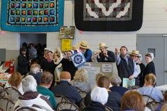 Ремесло Lancaster County и аукцион лоскутного одеяла стоковое изображение