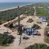 Ремонт приведения в исполнение нефтяной скважины стоковое фото rf