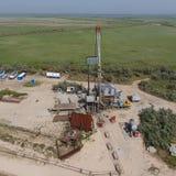 Ремонт приведения в исполнение нефтяной скважины стоковые изображения