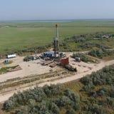 Ремонт приведения в исполнение нефтяной скважины стоковая фотография