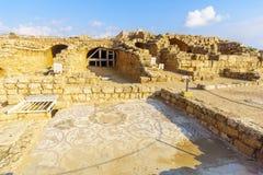 Римские дом и мозаика в национальном парке Caesarea стоковая фотография