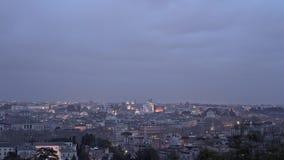 РИМ, ИТАЛИЯ - 31-ОЕ МАЯ 2018: Timelapse панорамы Рима видеоматериал