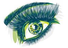 Рисовать голубого глаза женщины бесплатная иллюстрация