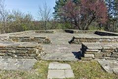 Руины средневекового города Preslav, столицы первой болгарской империи, Болгарии стоковое фото rf