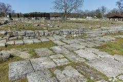 Руины средневекового города Preslav, столицы первой болгарской империи, Болгарии стоковое фото