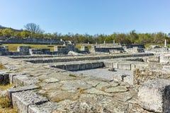 Руины средневекового города Preslav, столицы первой болгарской империи, Болгарии стоковое изображение