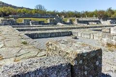 Руины средневекового города Preslav, столицы первой болгарской империи, Болгарии стоковые фото