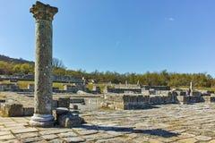 Руины средневекового города Preslav, столицы первой болгарской империи, Болгарии стоковое изображение rf
