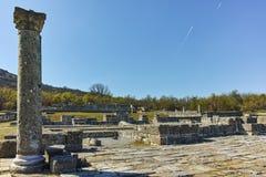 Руины средневекового города Preslav, столицы первой болгарской империи, Болгарии стоковые фотографии rf