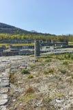 Руины средневекового города Preslav, столицы первой болгарской империи, Болгарии стоковые изображения
