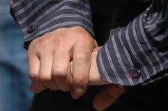 Руки за вашей задней частью стоковая фотография