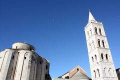 Church with bell tower. Ршыещкшс Church with bell tower in Zadar Croatia Stock Images