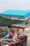 Рыбный базар на парке Taejongdae, Пусане, Южной Корее стоковое фото rf