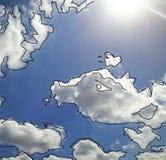 Рыбы в небе иллюстрация вектора