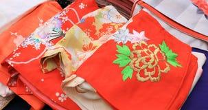 Рынок кимоно на святыне Yasaka в Киото Японии видеоматериал