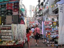 Рынок ночи улицы виска, Джордан, Kowloon, Гонконг стоковая фотография